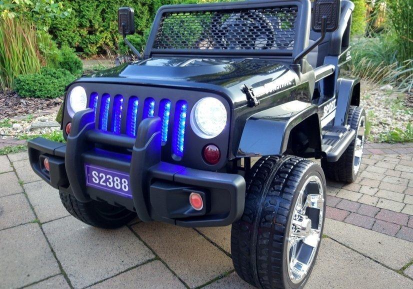 elektroauto f r kinder s2388 off road jeep schwarz 2 4g. Black Bedroom Furniture Sets. Home Design Ideas
