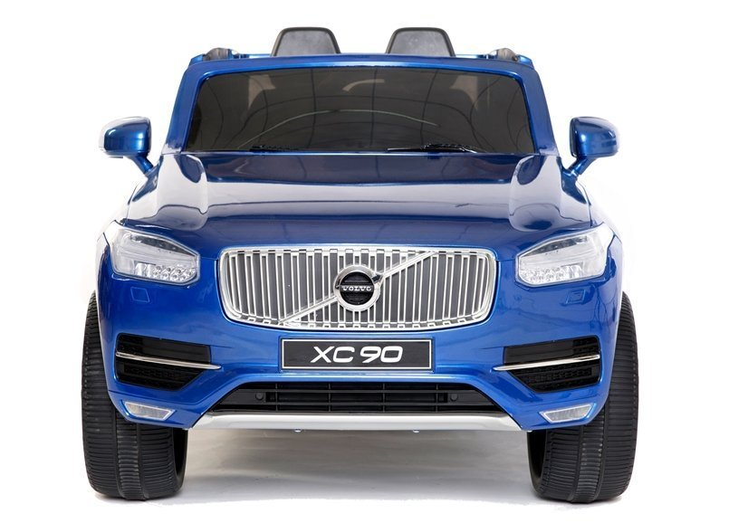 elektroauto f r kinder volvo xc90 blau lackiert eva reifen auto ledersitz elektrofahrzeuge. Black Bedroom Furniture Sets. Home Design Ideas