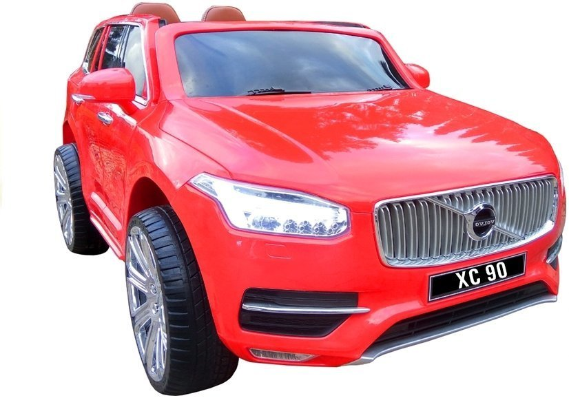 elektroauto f r kinder volvo xc90 rot mit rc eva reifen. Black Bedroom Furniture Sets. Home Design Ideas