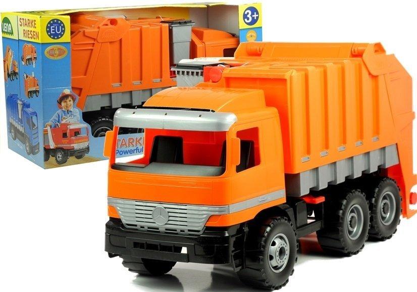 gro er m llwagen mercedes lena orange fahrzeug auto spielzeug f r kinder spielzeug autos. Black Bedroom Furniture Sets. Home Design Ideas