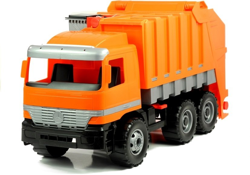 gro er m llwagen mercedes lena orange fahrzeug auto. Black Bedroom Furniture Sets. Home Design Ideas
