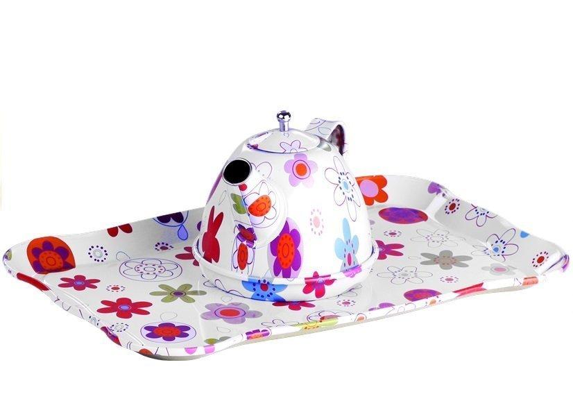 Kinder Metall Mini Tee-Set für Kinder 4 Tassen Teller Set ...