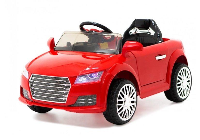 kinderauto mit akku yc518 rot auto f r kinder 2 4g led lichter felgen eva reifen. Black Bedroom Furniture Sets. Home Design Ideas