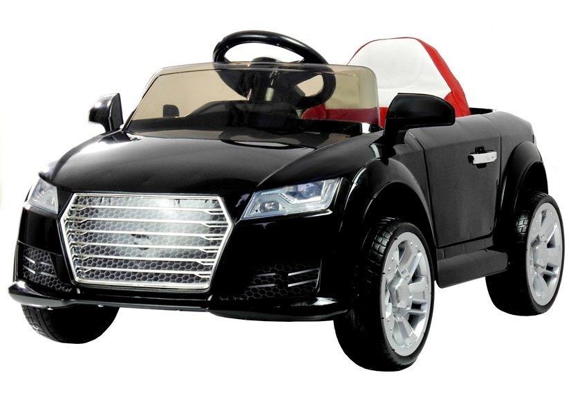 kinderauto mit akku yc518 schwarz auto f r kinder 2 4g led lichter felgen sound. Black Bedroom Furniture Sets. Home Design Ideas