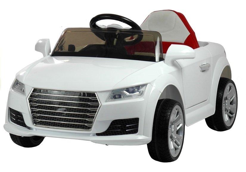 Kinderauto Mit Akku YC518 Weiß Auto Für Kinder 2.4G LED