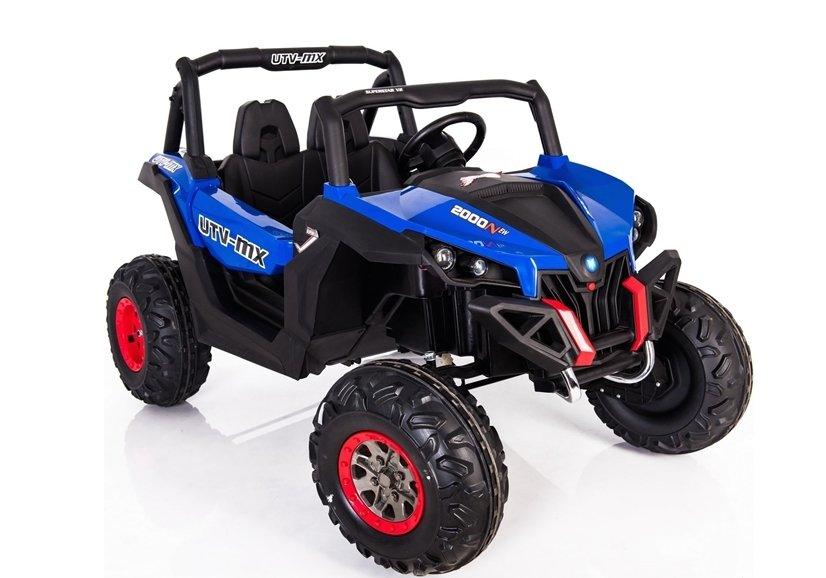 kinderfahrzeug jeep xmx blau eva reifen ledersitz felgen. Black Bedroom Furniture Sets. Home Design Ideas