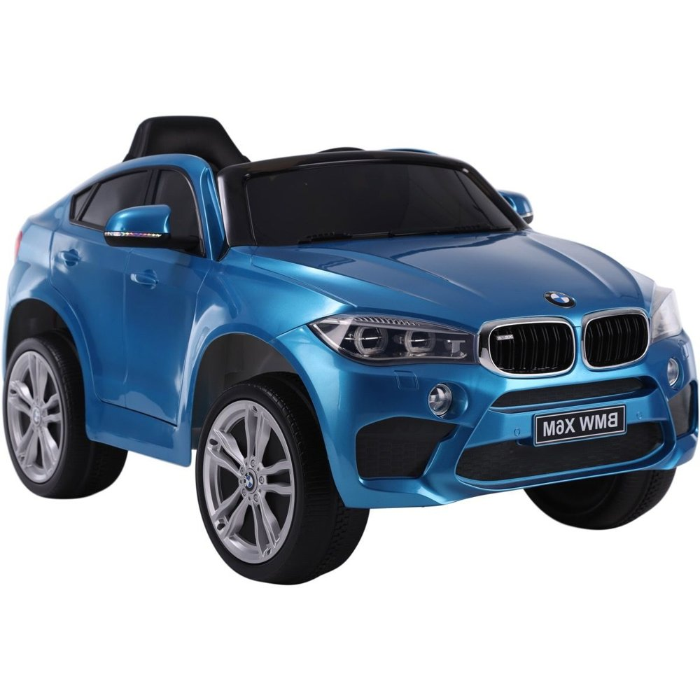 kinderfahrzeug kinderauto bmw x6 blau lackiert auto f r. Black Bedroom Furniture Sets. Home Design Ideas