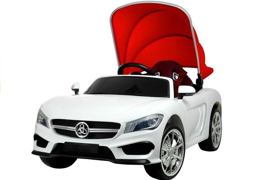 kinderfahrzeug wei ledersitz felgen radio fm cabrio auto. Black Bedroom Furniture Sets. Home Design Ideas