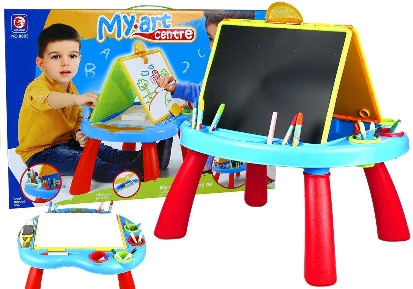 kindertafel tafel f r kinder set kreide buntstifte filzstifte spielzeug kindertafel. Black Bedroom Furniture Sets. Home Design Ideas