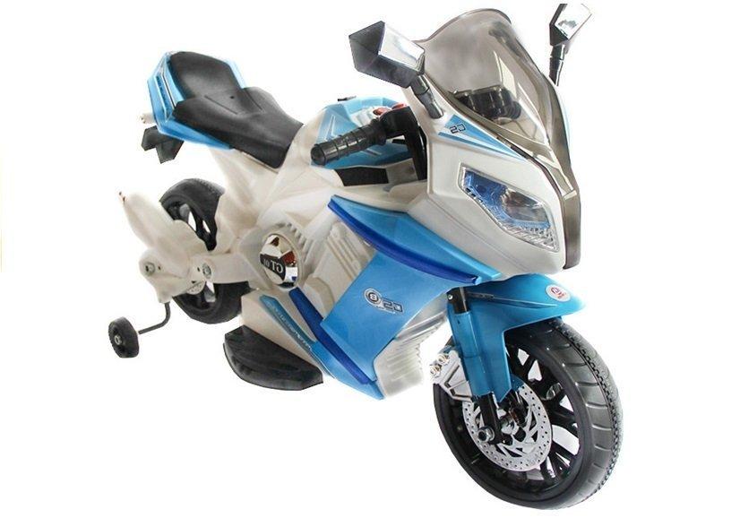 motorrad elektromotorrad f r kinder j528 2x35w 2x6v blau. Black Bedroom Furniture Sets. Home Design Ideas