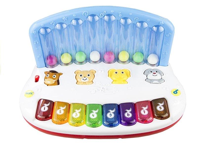 Piano keyboard mit bunten kugeln für babys englisch sound