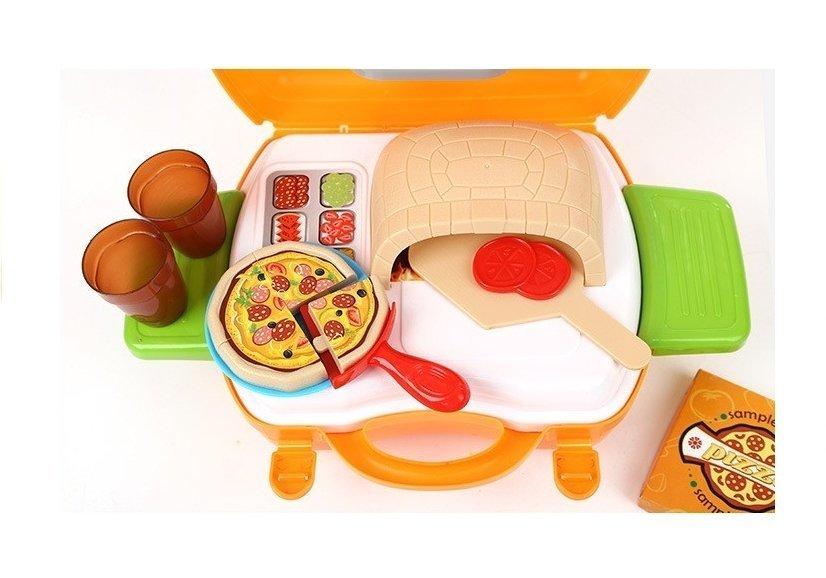 pizza set im koffer 22 teile kinderk che spielzeug k che haushaltwaren. Black Bedroom Furniture Sets. Home Design Ideas