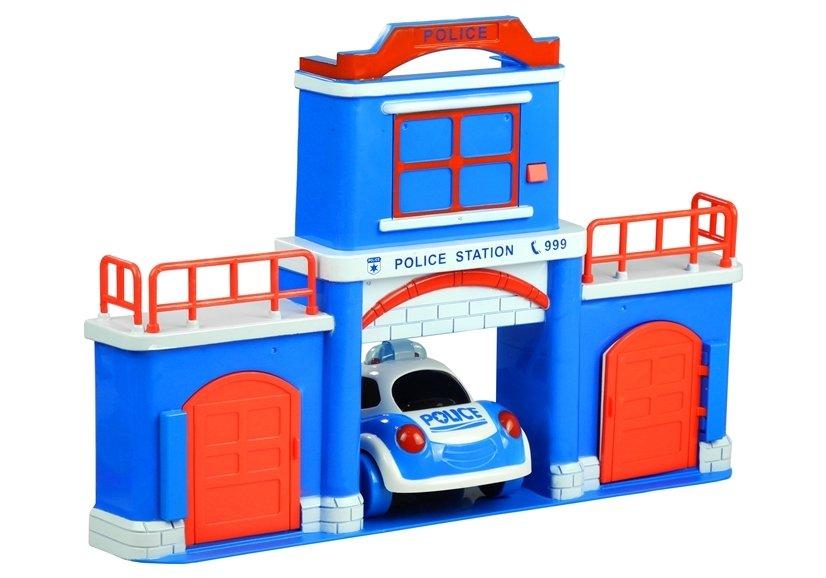 Polizeiposten polizeiauto polizist spielzeug sirene
