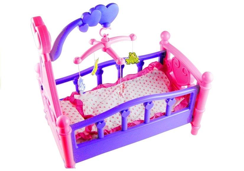 puppenbett mit bettzeug und kleinem spielzeug 3 spielzeug f r kinder spielzeug puppen. Black Bedroom Furniture Sets. Home Design Ideas
