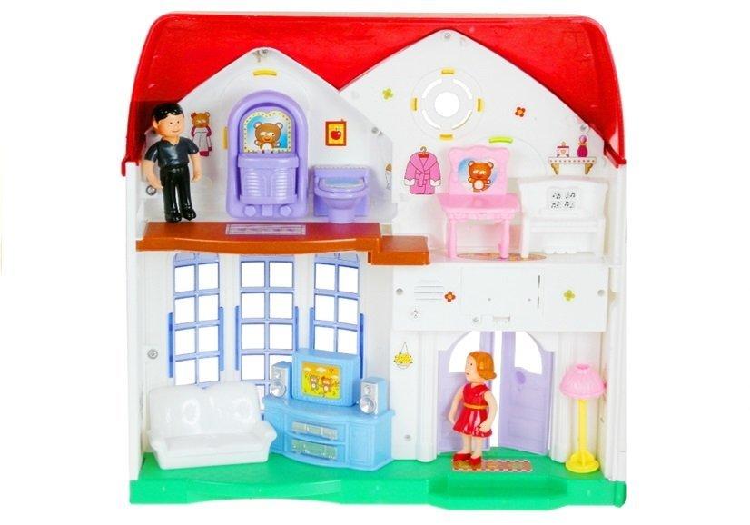 puppenhaus aus kunststoff m bel puppe mehrst ckig spielzeug f r kinder 3 spielzeug puppen. Black Bedroom Furniture Sets. Home Design Ideas