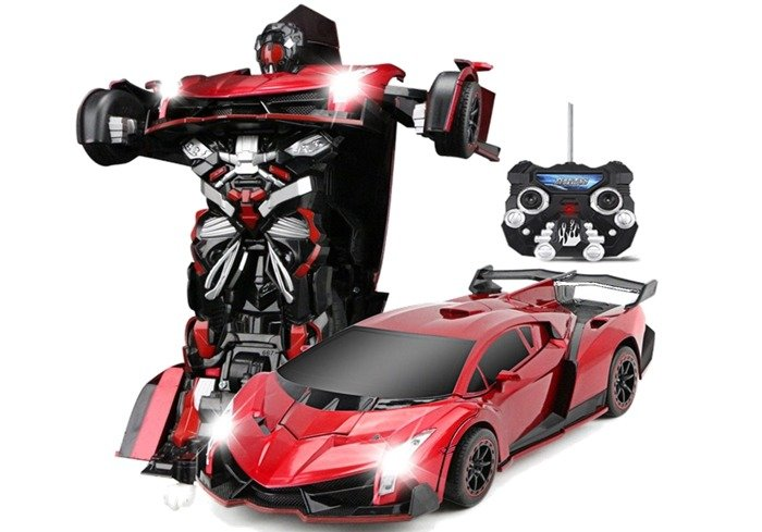 rc roboter auto umwandlung wie transformers fernbedienung autobot rot spielzeug spielzeug r. Black Bedroom Furniture Sets. Home Design Ideas