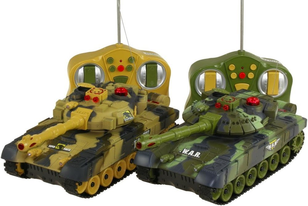 riesiger rc panzer mit schussfunktion 26 cm spielzeug. Black Bedroom Furniture Sets. Home Design Ideas