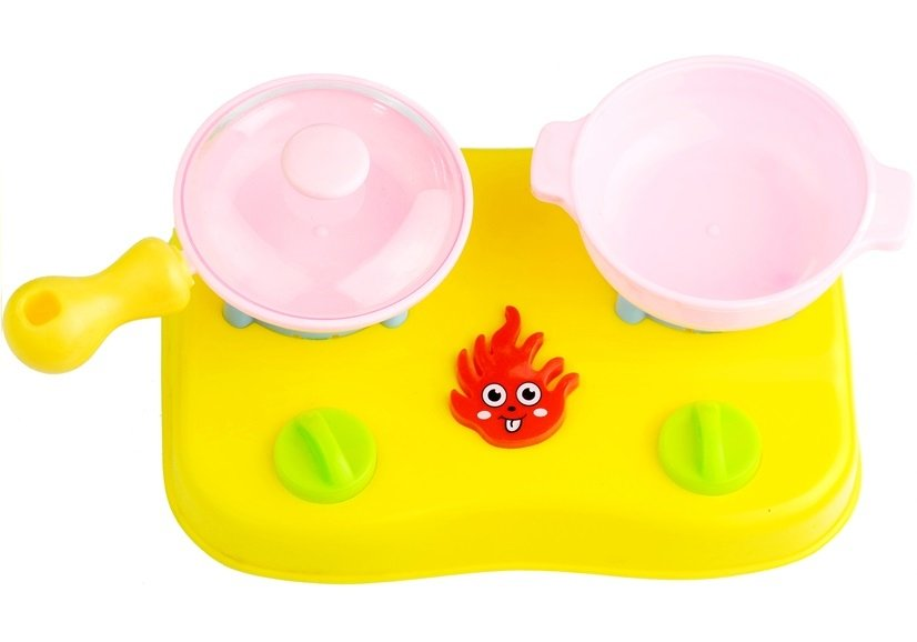 Küchen zubehör kinder  Spielküche Set für Kinder Zubehör Küchenzubehör Körbchen Topf Teller ...