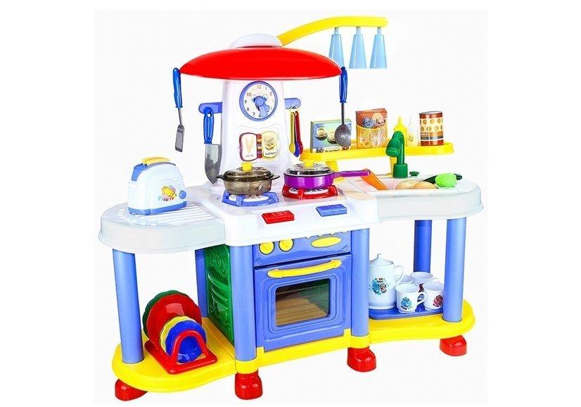 Spielküche Wasserhahn Toaster Uhr Teller Topf Pfanne Sund