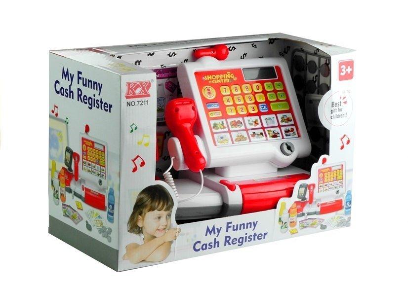 spielzeugkasse spielzeug kaufladen registrierkasse spielkasse f r kinder wei spielzeug. Black Bedroom Furniture Sets. Home Design Ideas