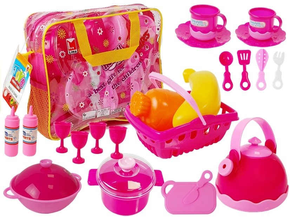 Tee-Set Geschirr-Set Puppengeschirr Besteck Kinderküche Mini ...