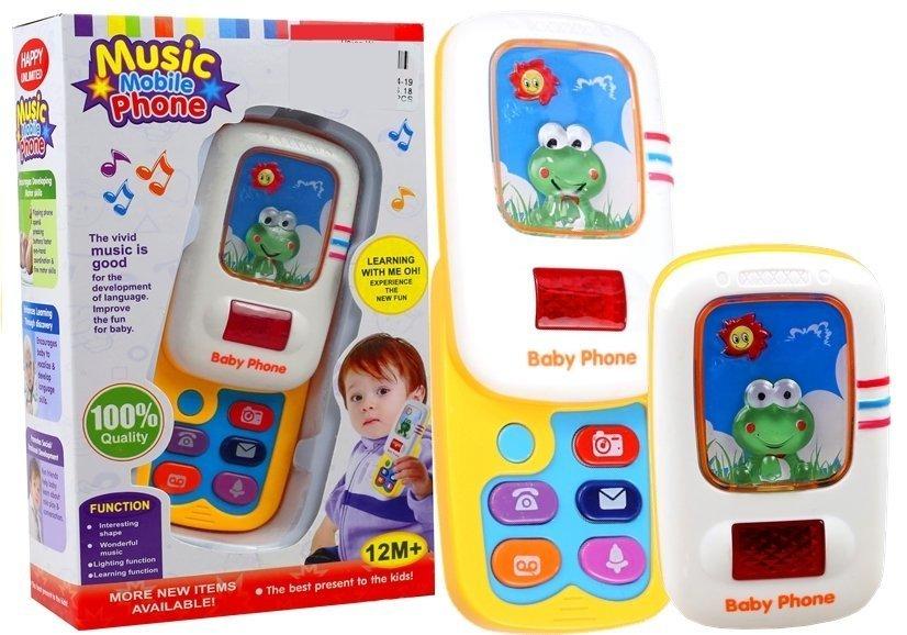 Telefon für baby fröschchen lichteffekte tasten