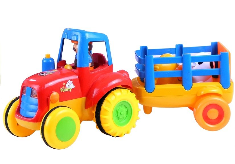 Traktor mit anhänger schlepper spielzeug soundeffekten