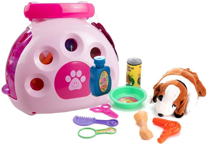 transportbox f r hunde hund mit transporter zubeh r k fig spielzeug stofftiere. Black Bedroom Furniture Sets. Home Design Ideas