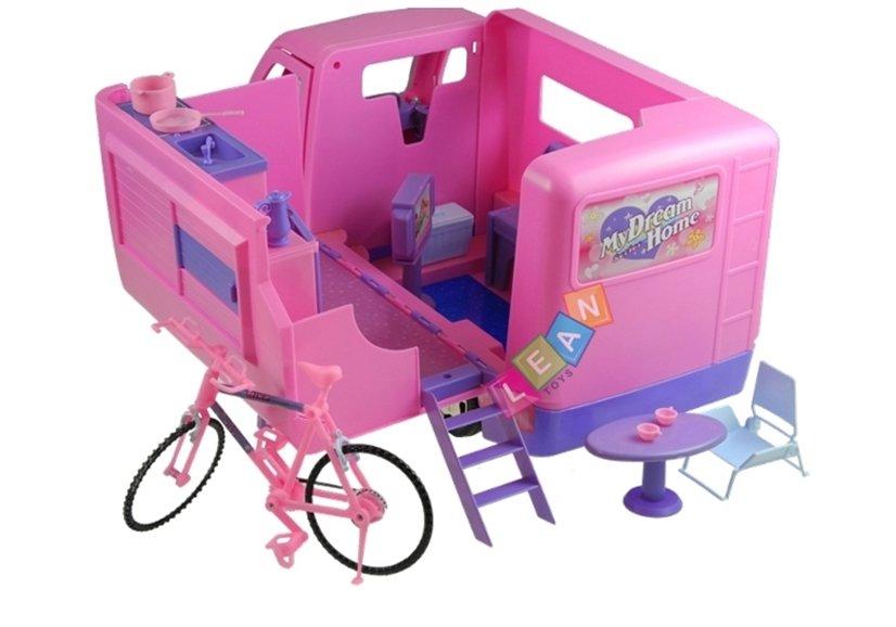Wohnmobil mit fahrrad puppe spielzeug fÜr mÄdchen