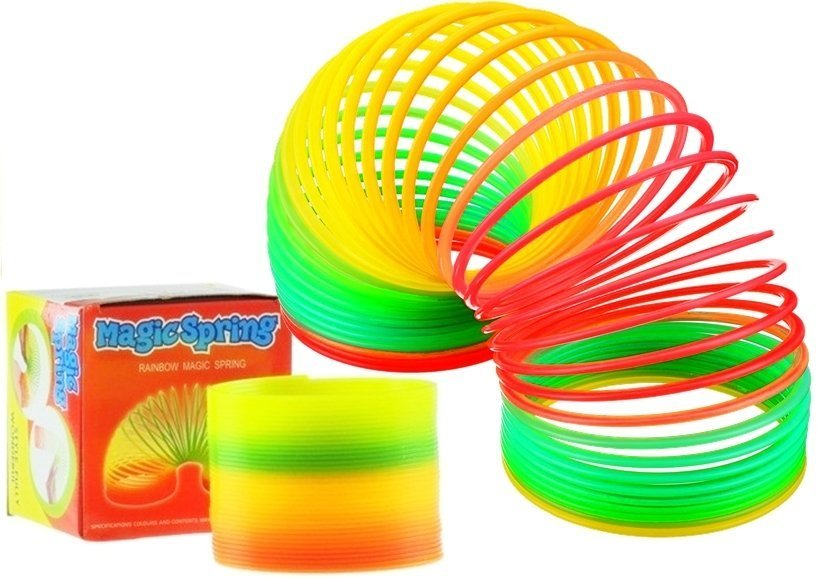 Regenbogenartige sprungfeder magic spring spielzeug für