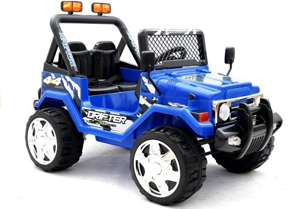 elektroauto f r kinder jeep raptor blau 2x45w off road mit. Black Bedroom Furniture Sets. Home Design Ideas