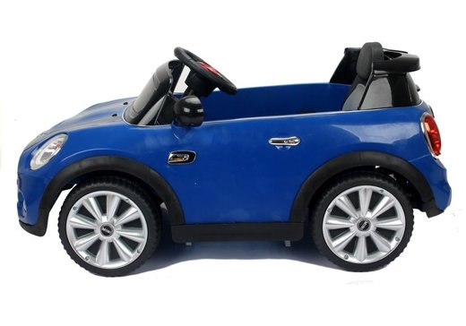 elektroauto f r kind mini cooper s blau ledersitz 2x45w 2. Black Bedroom Furniture Sets. Home Design Ideas