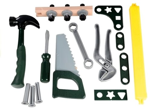 werkzeugkasten f r kleinen heimwerker set werkzeuge hammer schrauben spielzeug spielzeug. Black Bedroom Furniture Sets. Home Design Ideas