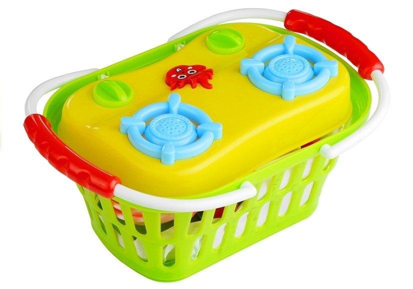 Zestaw Mała Przenośna Kuchnia w Koszyku  LeanToys p -> Kuchnia Elektryczna Przenośna