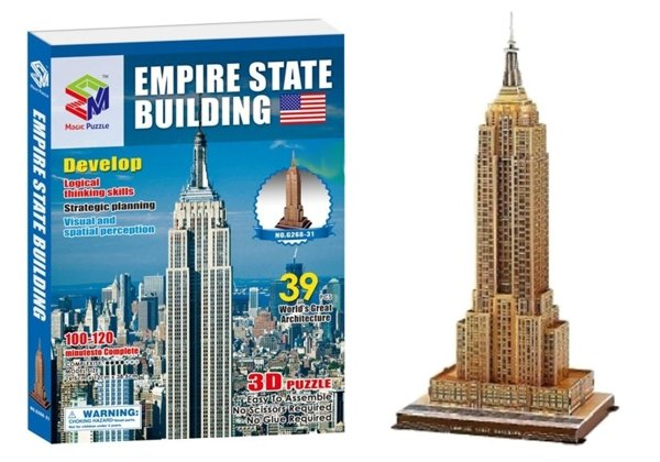 Puzzle 3D Budowle Empire State Tower Bridge 41 PCS