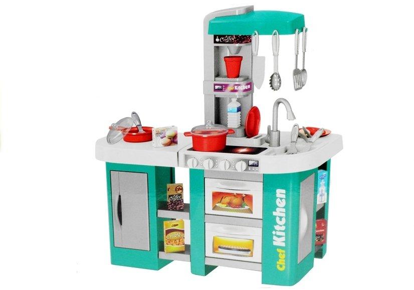 Dětská elektronická kuchyňka Chef s oběhem vody - Tyrkysová