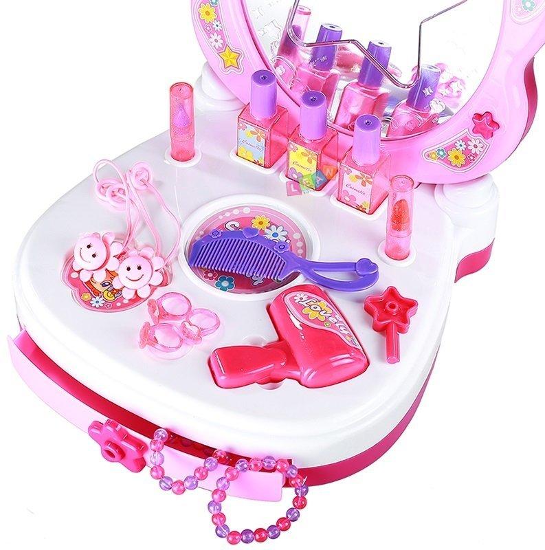 Velký dětský toaletní stoleček se zrcadlem