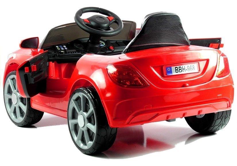 Batteriebetriebene Fahrzeuge Kinderfahrzeug BBH-968 Rot Ledersitz EVA-Reifen 2.4G LED Frontscheinwerfer