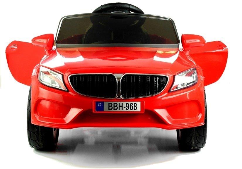 Kinderfahrzeug BBH-968 Rot Ledersitz EVA-Reifen 2.4G LED Frontscheinwerfer Batteriebetriebene Fahrzeuge