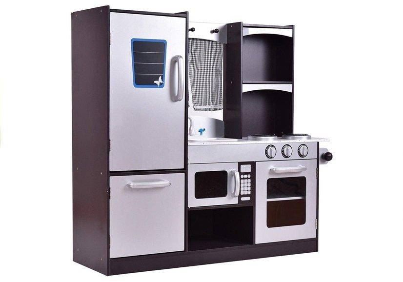 Mini Kühlschrank Für Kinder : Holzküche silbern mit kühlschrank backofen mikrowelle spülbecken