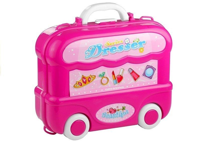 Dětský toaletní kufřík na kolečkách 3v1
