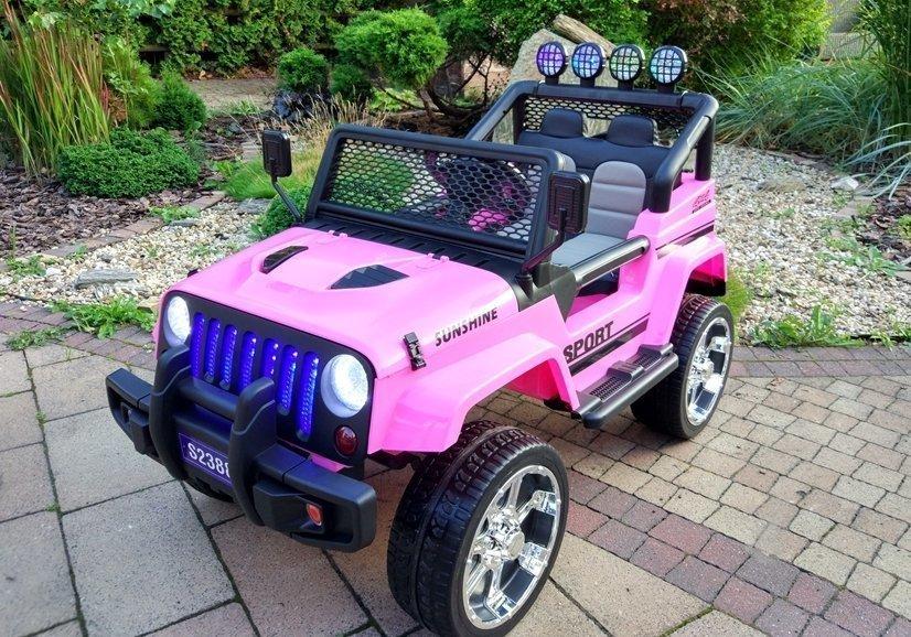 elektroauto f r kinder s2388 off road jeep rosa eva reifen. Black Bedroom Furniture Sets. Home Design Ideas