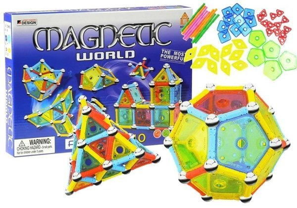 magnetbausteine magnetic world 110 elemente set bausteine f r kinder spielzeug basteln und. Black Bedroom Furniture Sets. Home Design Ideas