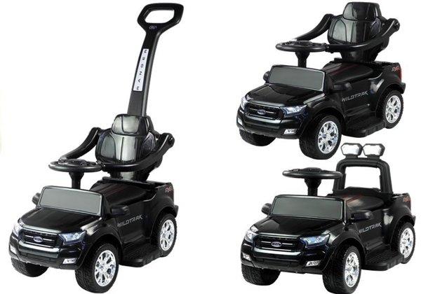 rutschauto ford ranger wildtrak mit schiebestange schwarz. Black Bedroom Furniture Sets. Home Design Ideas