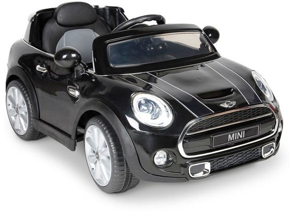 elektroauto f r kinder mini cooper s schwarz ledersitz 2x45w 2 4g led auto mini. Black Bedroom Furniture Sets. Home Design Ideas