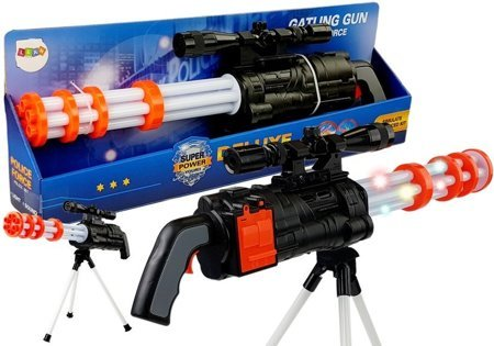 Battery Operated Sniper Rifle Rotary Cannon Police 62 cm