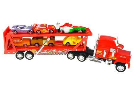 Cars Movie Truck with 6 small cars Lighting McQueen