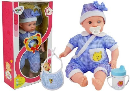 Doll Baby 45 cm Blue Clothing