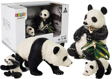 Figurine Animals Panda Set