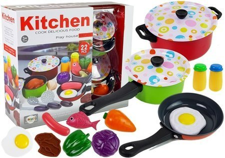 Kitchen Set Dishes Cook 22 pieces